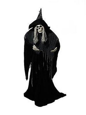 Halloween Figur Skeleton Witch ca. 165cm mit Standfuss - Halloween Mit Outdoor Dekorationen