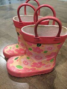 Bottes de pluie pour petite fille - pointure 6