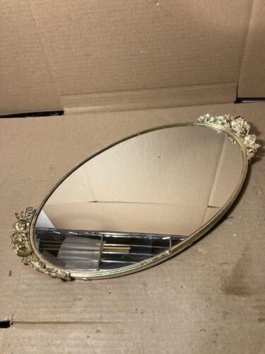 Vintage Glass Mirror Vanity Tray Perfume Dresser Bedroom