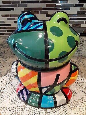Frog Cookie Jar Romero Britto Design Item #22010 Westland Giftware