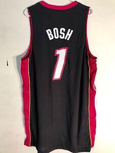 Adidas Swingman NBA Jersey Miami Heat Chris Bosh Black sz L