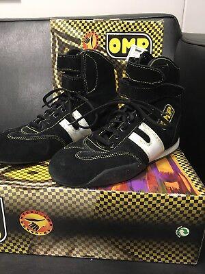 Omp Racing Schuhe (OMP Racing Kart Schuhe Gr.40 Ovp Schwarz neu)