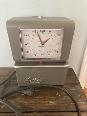 For Parts - Vintage Lathem 4021 Industrial Time Clock Punch Card Recorder