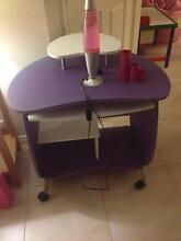 Purple Kid's Desk and lava lamp Halls Head Mandurah Area Preview
