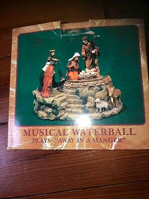 Cracker Barrel Musical Christmas WaterBall - Plays Away In A Manger - NEW ()