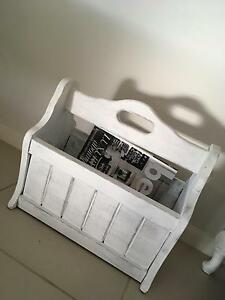 Shabby Chic French Provincial Coastal Distressed Magazine Holder Camden Camden Area Preview