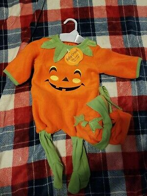 New Baby Pumpkin Halloween costume Size 3/6 Months  3 PC set - Halloween Costumes Pumpkin