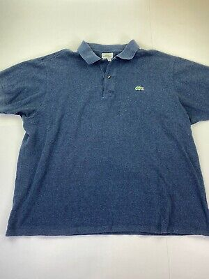 Lacoste Mens 7 Polo Short Sleeve Shirt Navy Blue Cotton
