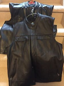 Riding leather vests