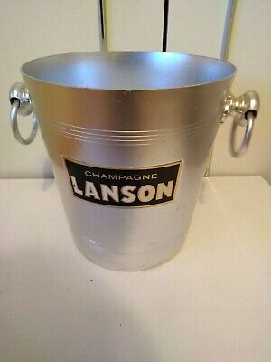 LANSON champagne ice bucket cooler vintage french bubbly dinner party wine bar