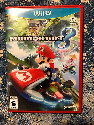 Mario Kart 8 (Nintendo Wii U, 2014) Red Case Complete in Box
