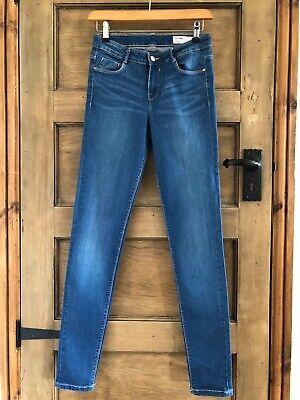 Zara Blue Jeans Size S 8-10 Good Long Length