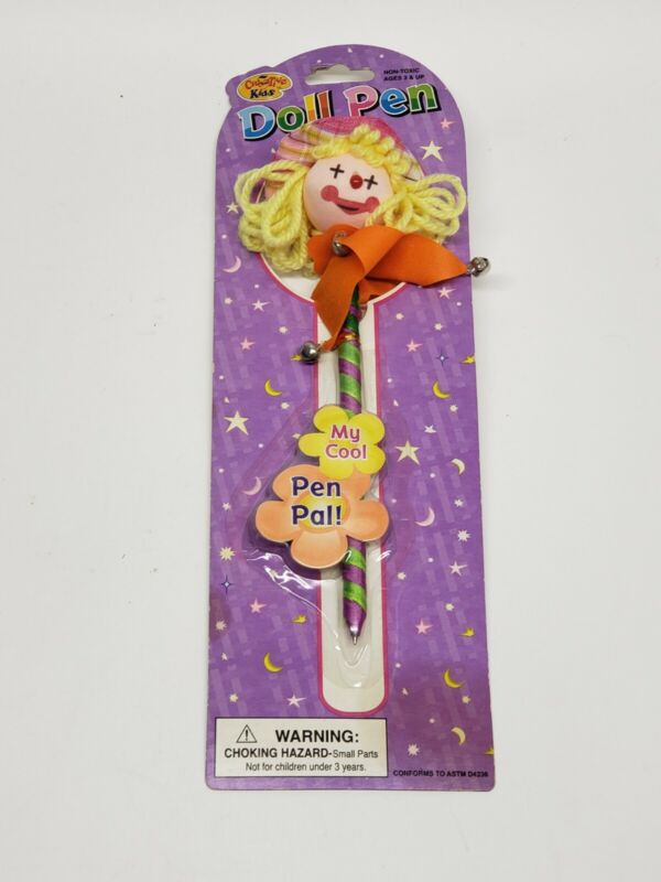 Vintage Doll Pen My Cool Pen Pal Creative Kids Collectible New Old Stock