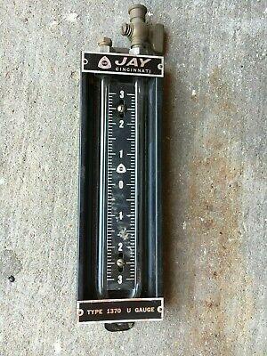 Jay Instruments Type 1370 U-tube Manometer Range 4-0-4