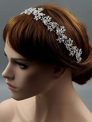 Bridal Jewelry Accessories Wedding Headpiece Crystal Headband Tiara 08290 Silver