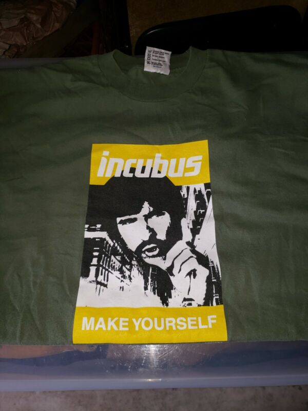 Incubus Copyright 2000 Olive Make Yourself F$%@ YOURSELF XL TSHIRT Rare