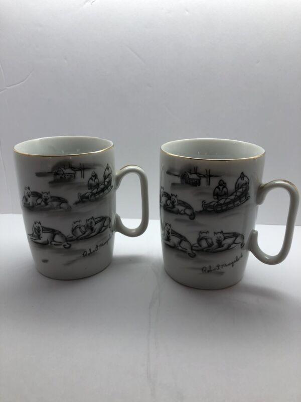 Robert Mayokok Alaska/Eskimo Mug Lot of Two
