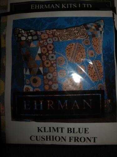 Vtg Ehrman KLIMT Blue Cushion Front Needlepoint Tapestry Wool NIP Sealed Kit ART