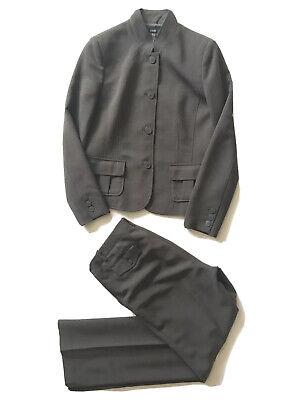 "Alfani Brown Polyester Blend Blazer Career Pant Suit Size 10 Women's Inseam 32"""