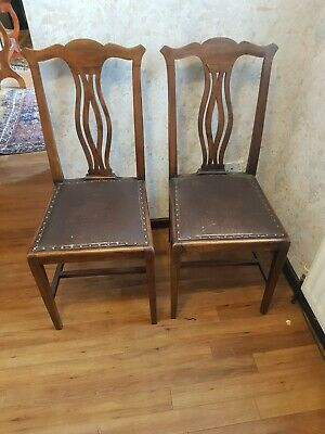 2 Antique Dining Chairs 1920s
