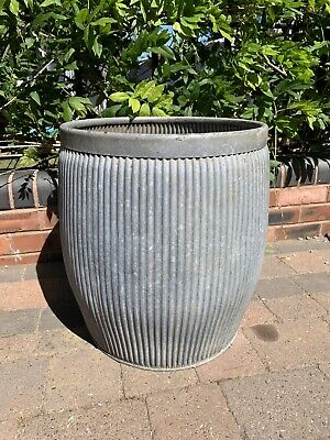 Vintage Galvanised Washing Dolly Tub Planter
