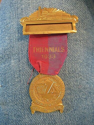 Royal Arch Masonic Medal From The Triennial Held In Washington DC In 1933