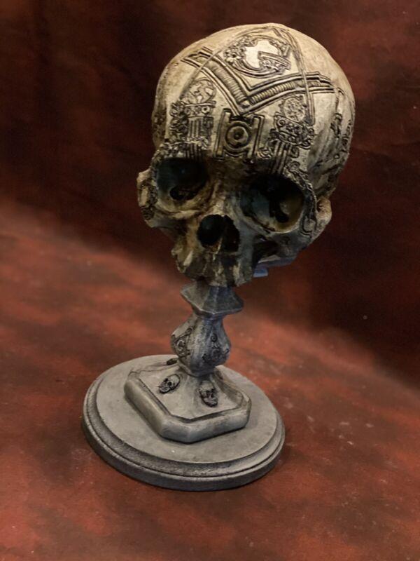 Masonic Freemason Real Human Skull Display Stand / Skeleton Vintage Medical