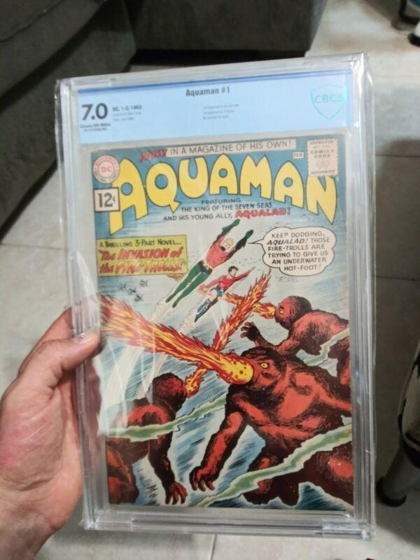 AQUAMAN #1 COMIC CBCS 7.0 Beautiful HUGE KEY 1962