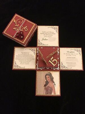 QUINCEAÑERA, SWEET 16, WEDDING OR ANY OCCASION, EXPLODING BOX INVITATION