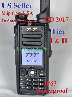 TYT MD-2017 + Free Speaker Mic Dual Band DMR/Analog 144&430MHz Radio US Seller