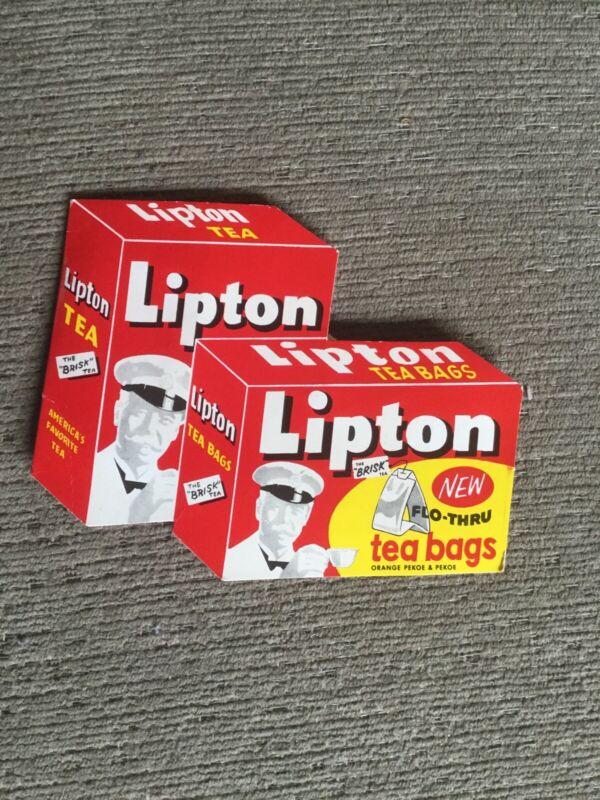 Vintage New Flo Thru Lipton Tea Bags Sewing Kit Various Needle Sizes