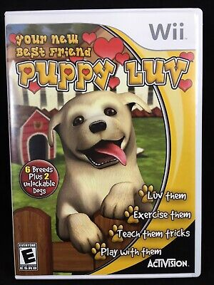 Video Game Nintendo Wii Puppy Luv Your New Best Friend Dog Training Rated