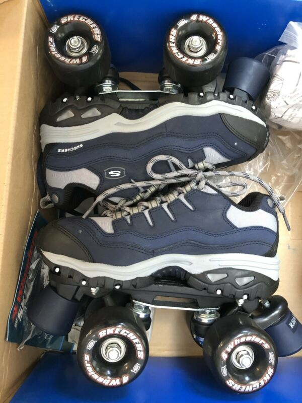 Skechers 4 Wheelers Roller Skates Size Eur 35, Youth 3 Women's 5 New In Box