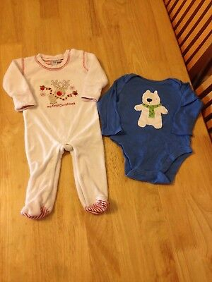 Baby 1st Christmas SET - 3-6 months - Vest and Playsuit