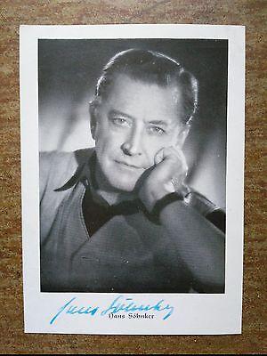 Autogrammkarte handsigniert von  Hans Söhnker - 1950er Jahre