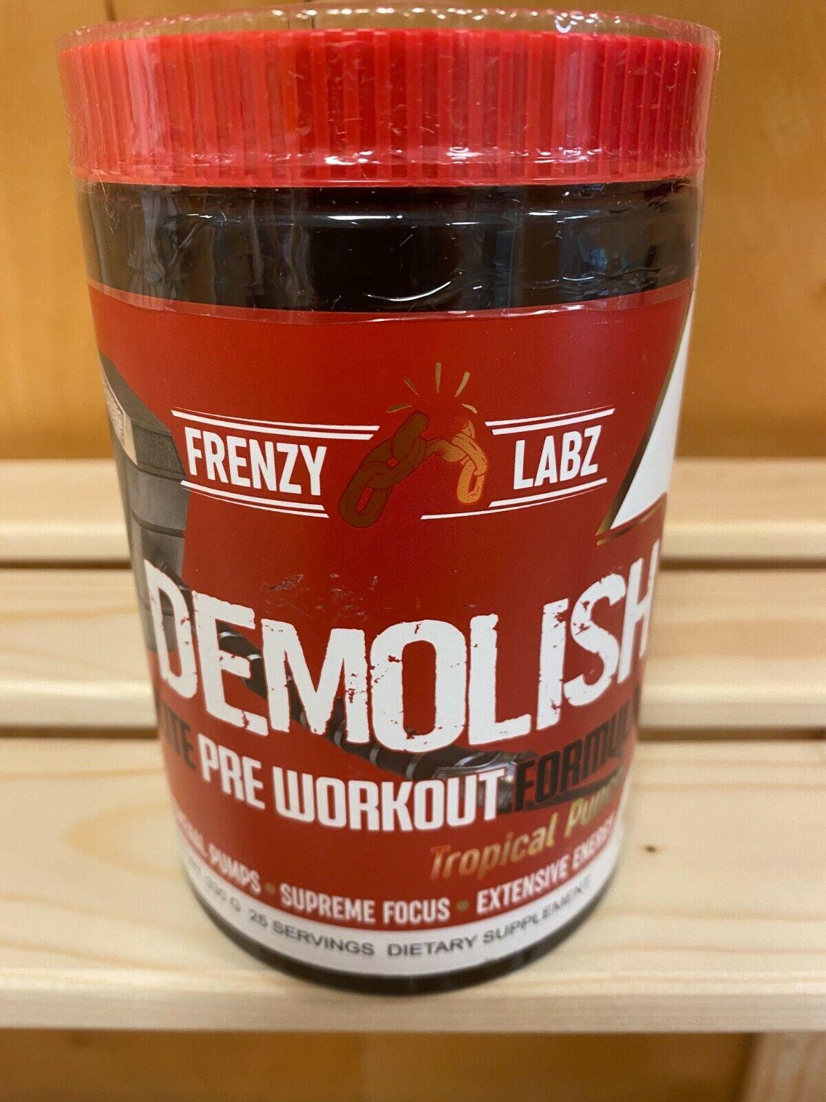 Frenzy Labs Demolish Preworkout Pick Flavor Dark Energy Strength