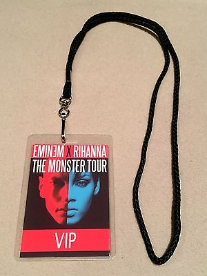 RIHANNA EMINEM MONSTER TOUR VIP ALL ACCESS MEET & GREET BACKSTAGE PASS W LANYARD