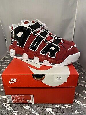 Nike Air More Uptempo '96 Hoops Pack Bulls Red White Black 921948 600 Men's 10