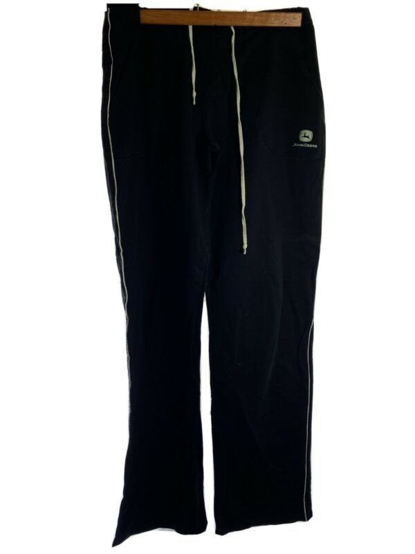 John Deere Sweat Pants With Drawstring Size Small Black With Logo With Tags