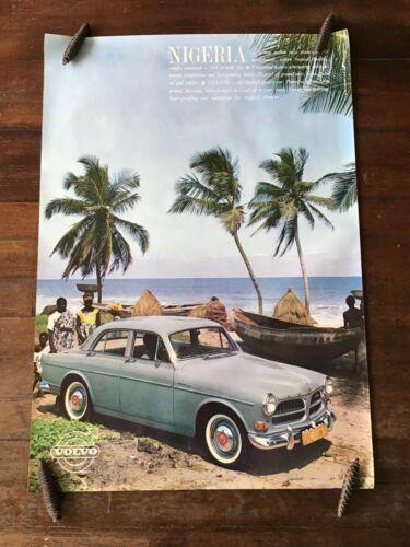 1960s  Volvo four door model,  original dealership showroom poster.