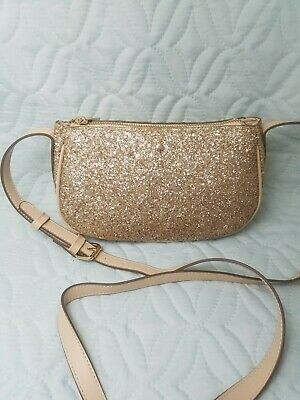 A New Day Gold Glitter purse NWOT