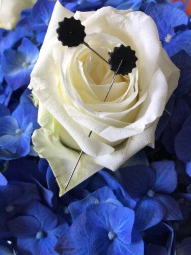 50 Quiltnadeln Blumen Stecknadeln Pin Extra Lang 42mm Schwarz Neuware