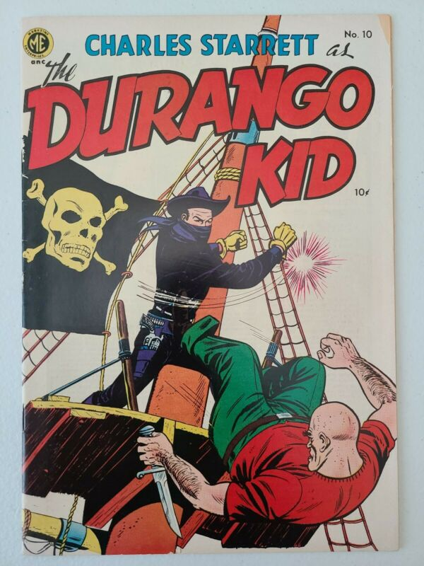 THE DURANGO KID # 10 1951 ME Western Comic Charles Starrett