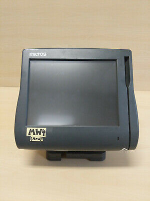 Micros Workstation 4 Ws4 Terminal W Stand 400614 Excellent Condition