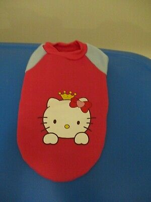 Hello Kitty Dog Sweater Pink Sweatshirt Apparel Clothes for Small Dog Cat