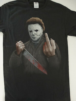 Michael Myers Halloween Middle Finger Horror Movie T-Shirt - Halloween Michael Myers Movies