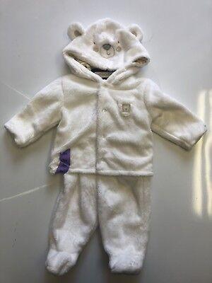 Bunny Girl Set (absorba Infant Girl Hooded Fleece Bunny 2-Piece Hoodie/Pants Set- 3 Month   )