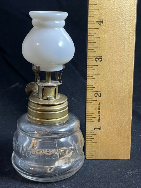 VERY RARE Antique NIGHT WATCH Miniature Oil Lamp Pat 1875