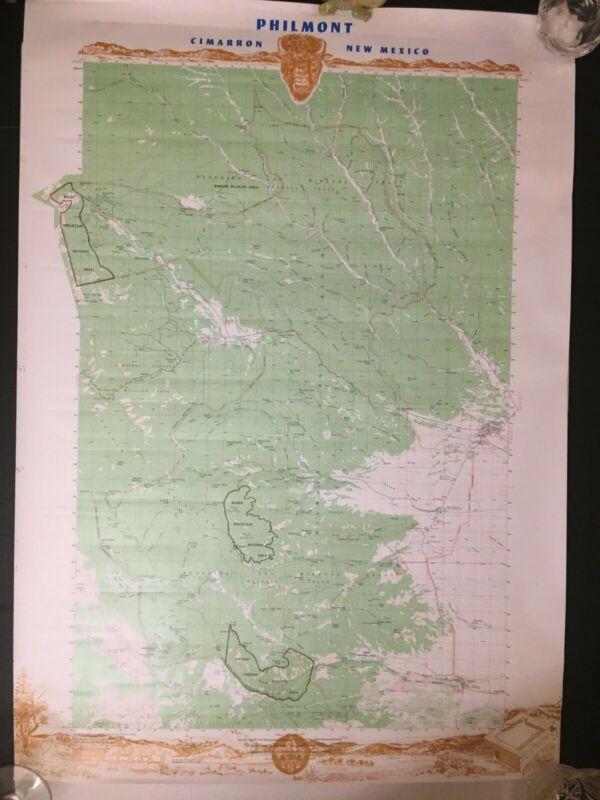 1980th Boy Scouts Philmont Scout Ranch & Explorer Base Maps Lot of 2 Cimarron NM