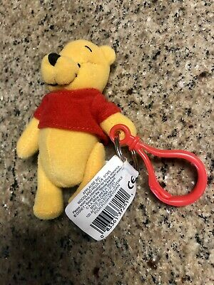 Disney's WINNIE THE POOH Beanie Pal Plush Keyring Vintage - Applause 37251